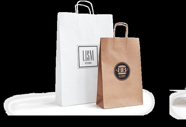 Papiertaschen mit Logo