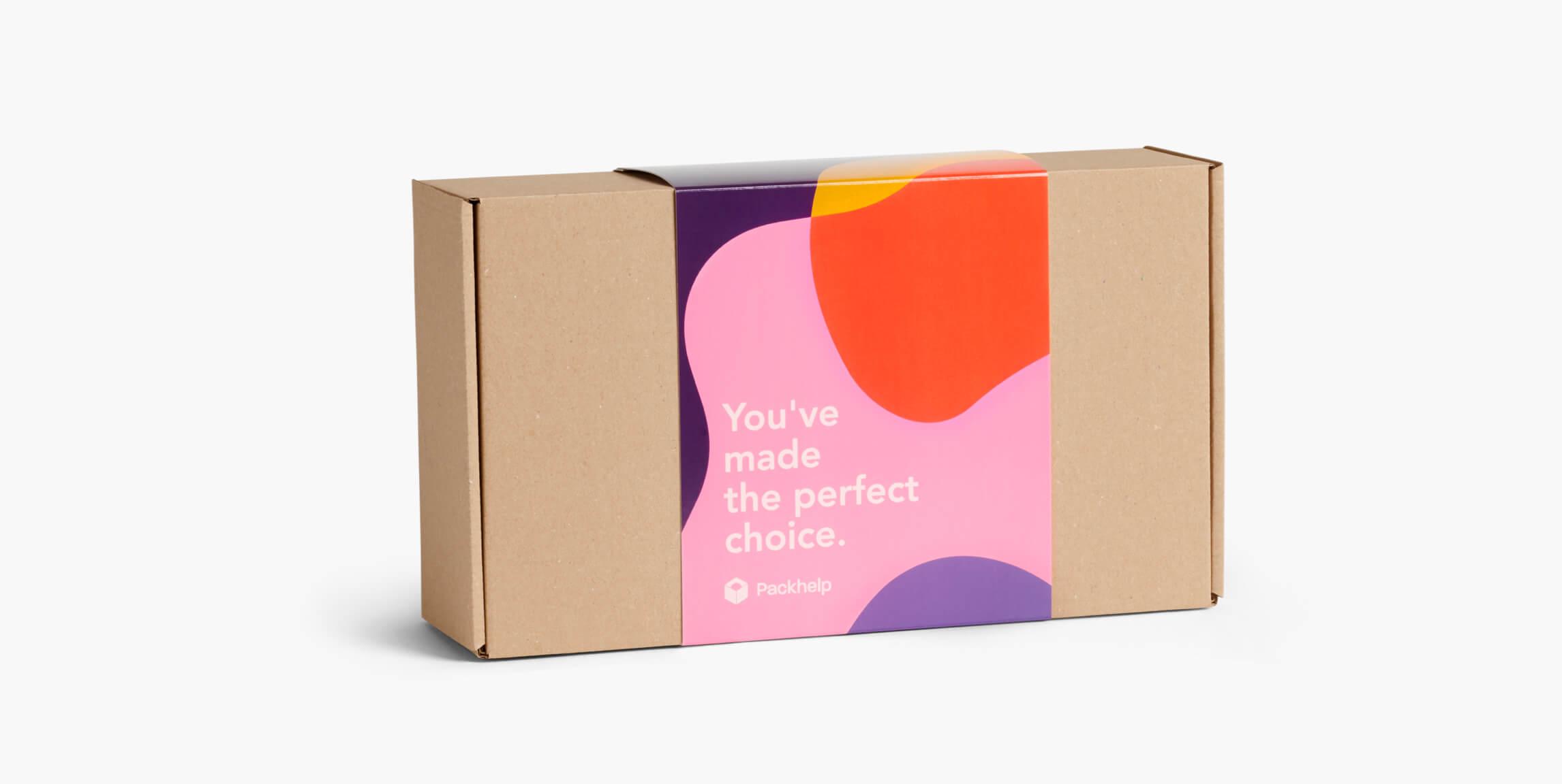 Versandschachteln mit Banderole – Individuelle Schachteln